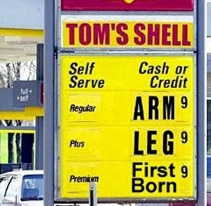 Real price on gas!