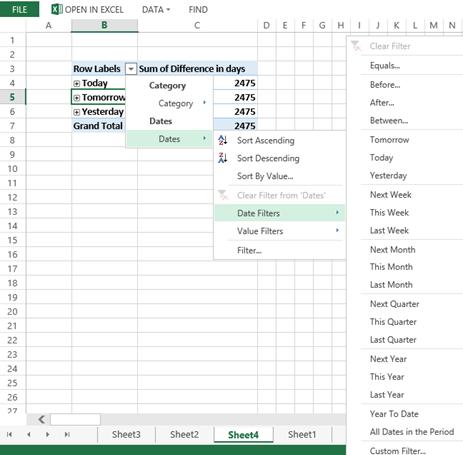 Sharepoint 2013 Date Filter